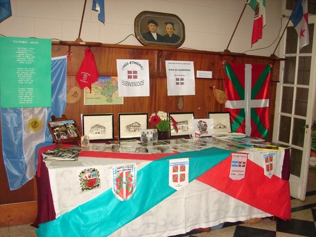 Table by the Etxe Maitea Basque Club in 9 de Julio