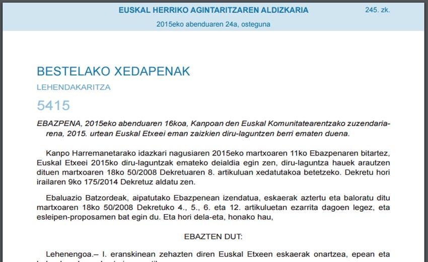 Call Basque Clubs