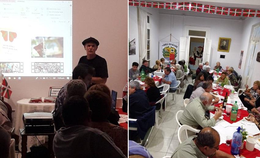 En el aniversario del Loretako Euskaldunak el preidente Federico Inchauspe presentó los videos