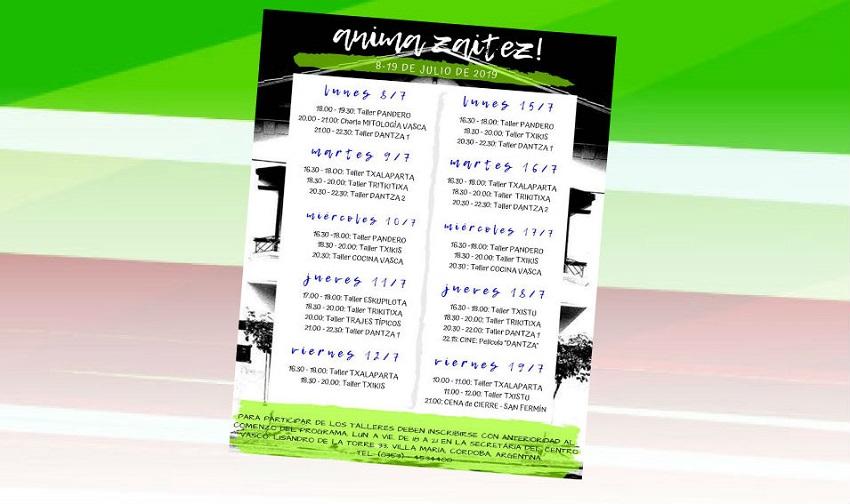 2019ko Anima Zaitez!en programa