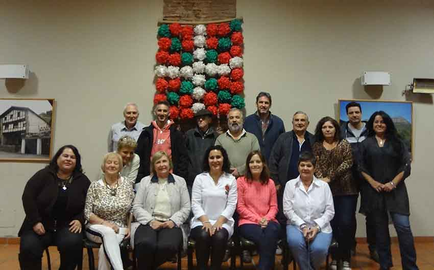 The 2017 board of directors at the Euskaldunak Denak Bat Basque Club in Arrecifes elected on April 22nd