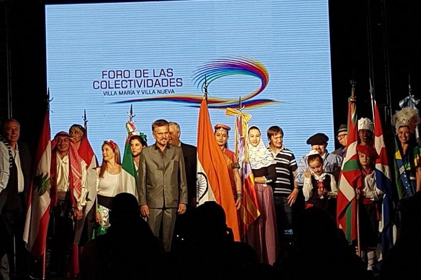 Abanderados vascos en el Fiesta de Colectividades de Villa María 2017