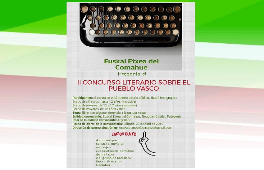 Comahueko Euskal Etxearen 2. Literatur Lehiaketa