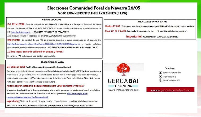 Información para participar en las elecciones del 26 de mayo