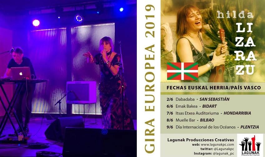Hilda Lizarazu en su gira por País Vasco