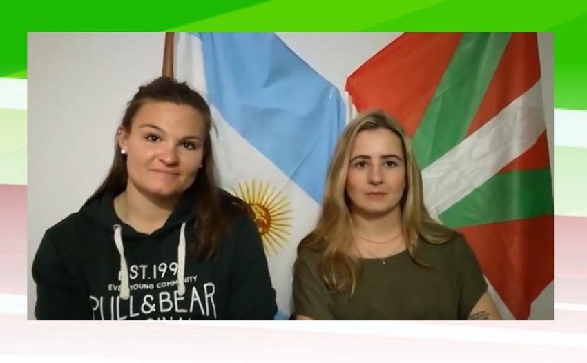 Las jóvenes vascas Edurne Altune y Joana Ourthiague en General Belgrano, Argentina
