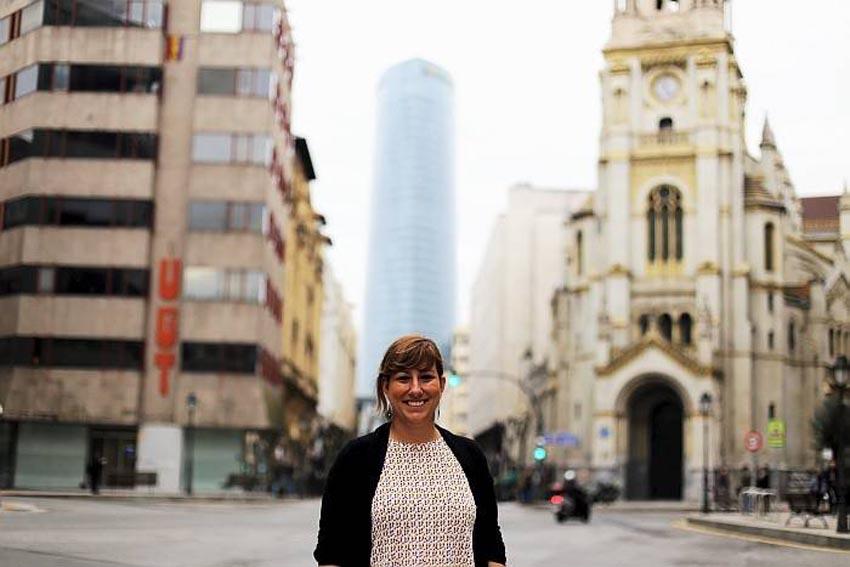 Mexican Laura Gonzalez de Artaza in Bilbao