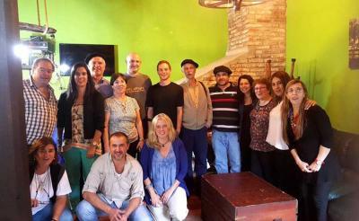 Uruguaiko Euskal Elkarteen II, Biltzarrera bildutako ordezkarien talde-argazkia