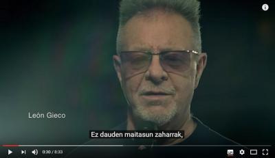 'La memoria' abestiaren euskarazko azpitituluak Buenos Aireseko Euskaltzaleak-ek egin du