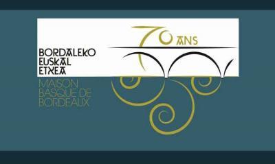 Bordaleko Euskal Etxearen 70. urteurreneko logoa