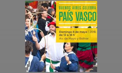 2016ko 'Buenos Airesek Euskal Herria ospagai' jaialdiaren afixa