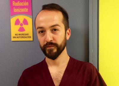 Christian Etxeberria, medikuntza-teknologoa eta euskara ikasle/iralaskea Txileko Santiagon