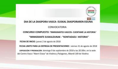 Concurso 'Inmigrantes Vascos-Cuéntame la historia'