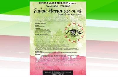 Concurso Literario 'Euskal Herria vive en mí-Euskal Herria nigan bizi da'