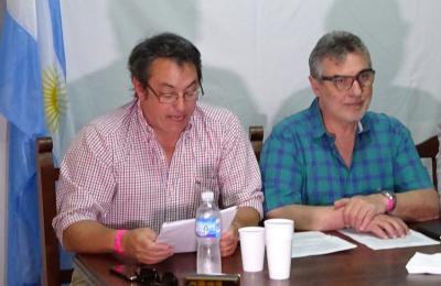 Javier Ederra lehendakaria izateko hautagaia eta Hugo Andiazabal lehendakaria