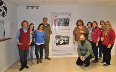 "Presentation of the ""Emakume Euskalduna Patagonian"" project, Ruben Suarez along with the club board (photoEE)"