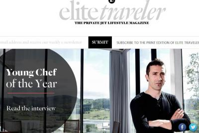 Eneko Atxa munduko 2015eko chef gazte onena hautatu du Elite Traveler aldizkariak