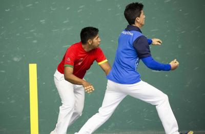 The pilota final between Milton Cayoja Apaza (Bolivia) and Nicolás Alberto Comas (Argentina). The gold went to the local player (photo, official page of the Games)