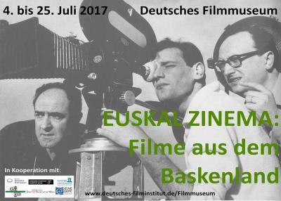 Frankfurt-eko Zinema Museoa uztail honetan eskaintzen ari den Euskal Zinema Zikloko kartela
