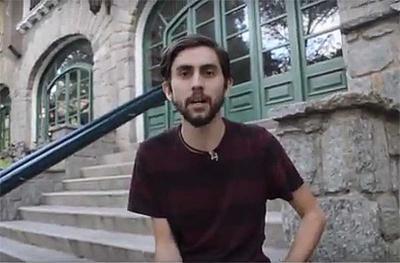 Image from the video message from Ibane Azpiritxaga broadcast by Jazoera TV