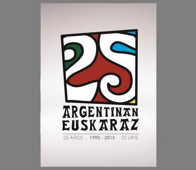 Argentinan Euskaraz programaren 25. urteurreneko Logo Lehiaketaren diseinu irabazlea