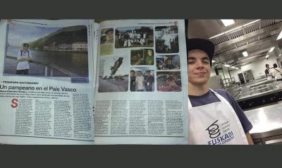Mauro Funes who participated in last year's Gaztemundu and was also covered in his local press