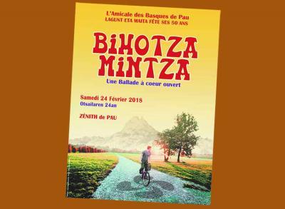 Cartel del musical Bihotza Mintza