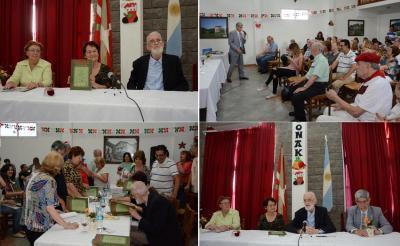 """Presentación del libro """"Euskaldunak y retoños en Toki Eder"""" en el Centro Vasco de José C. Paz"""