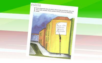 "Ilustración extraída del libro ""Idazlea zeu zara, irakurtzen duzulako"" de Joseba Sarrionandia. Al escritor no le entusiasma verse en fotos"