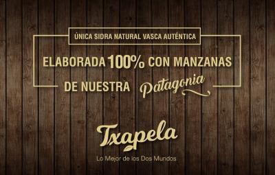 "New natural Basque-Argentine cider ""Txapela"""