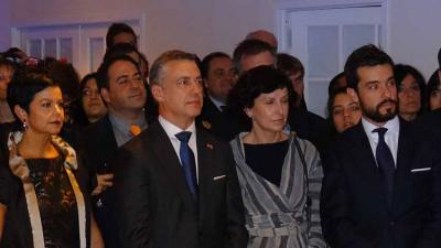 Urkullu and his wife in New York along with Marian Elorza, Secretary General of Foreign Action and Ander Caballero, former Delegate of Euskadi in the US (photoEuskalKultura.com)
