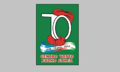 70th Anniversary Logo at the Euzko Etxea in Villa Maria