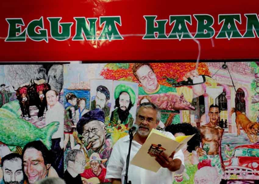 Renato García Eguzquiza en un evento anterior de Euskal Etxea de Cuba