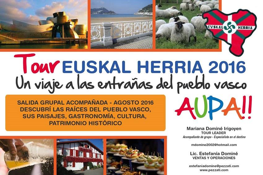2016ko Euskal Herrirako bidaia