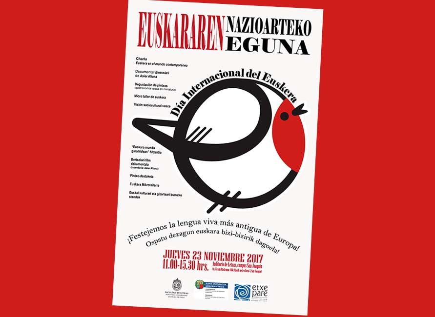 Afiche de la celebración hoy en Santiago del Día Internacional del Euskera (ENE)