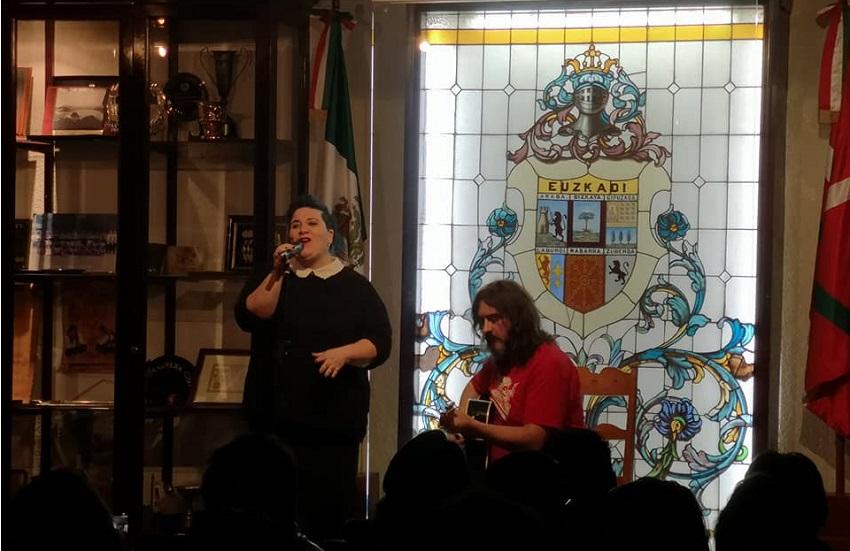 Zea Mays taldeko Aiora Rentería eta Piti Imaz Mexikoko Euskal Etxean