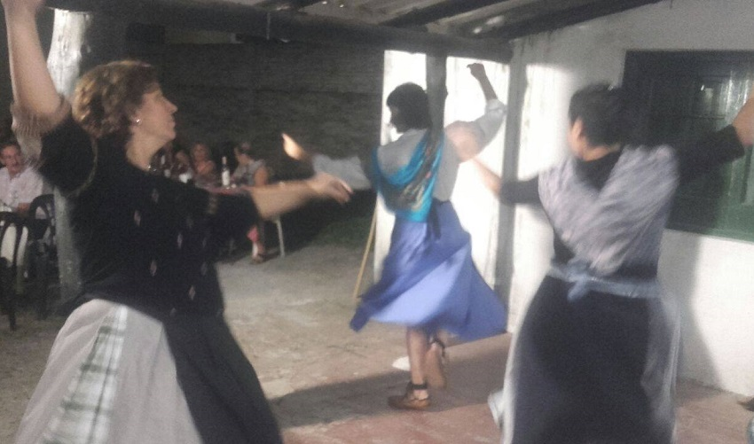 The dancers of Gazte Lurra also performed