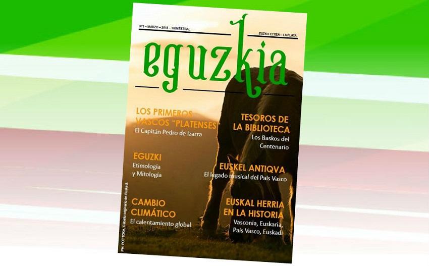 Tapa de la nueva revista 'Eguzkia' del Euzko Etxea platense