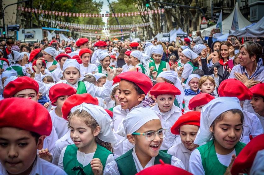 Txikis de los colegios Euskal Echea en el BAC 2018 (foto Pedro de Erquiaga)