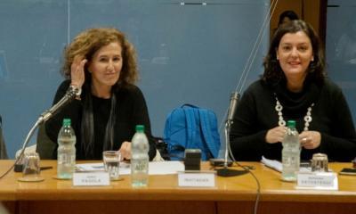 Sara Pagola eta Mariana Satostegui Uruguaiko Parlamentuko Ekitate eta Genero Batzordean