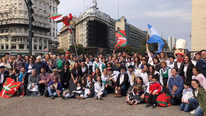 Day of the Basque Diaspora organized by Laurak Bat in the capital city