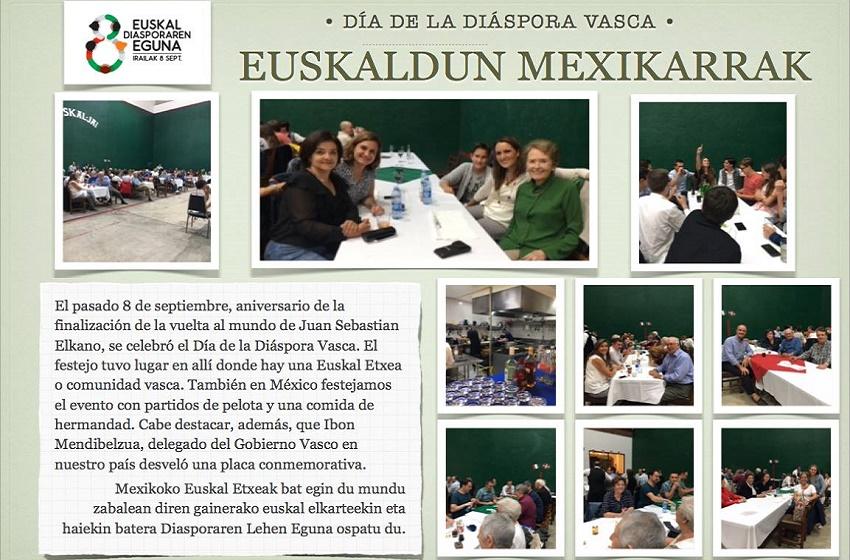 Day of the Basque Diaspora was also celebrated at the Euskal Etxea in Mexico City