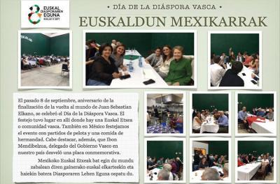 Mexiko Hiriburuko Euskal Etxean ere ospatu zuten Euskal Diasporaren Eguna