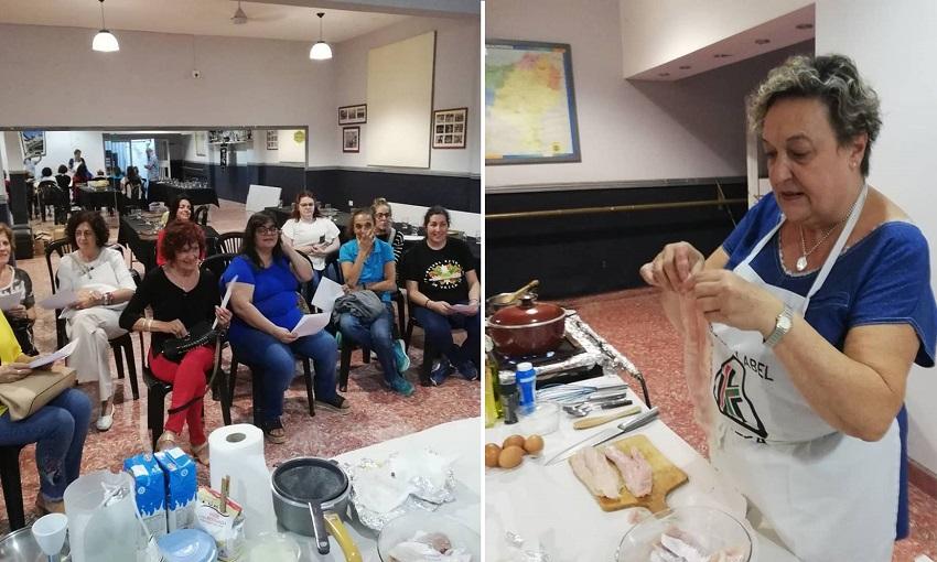 Taller de cocina en la Semana Cultural Vasca