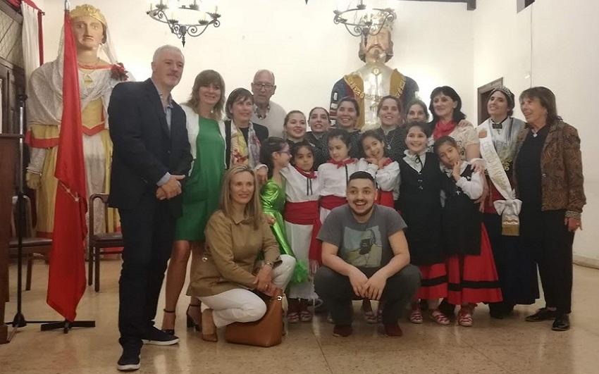 Uxue Barkos en el Centro Navarro de Buenos Aires