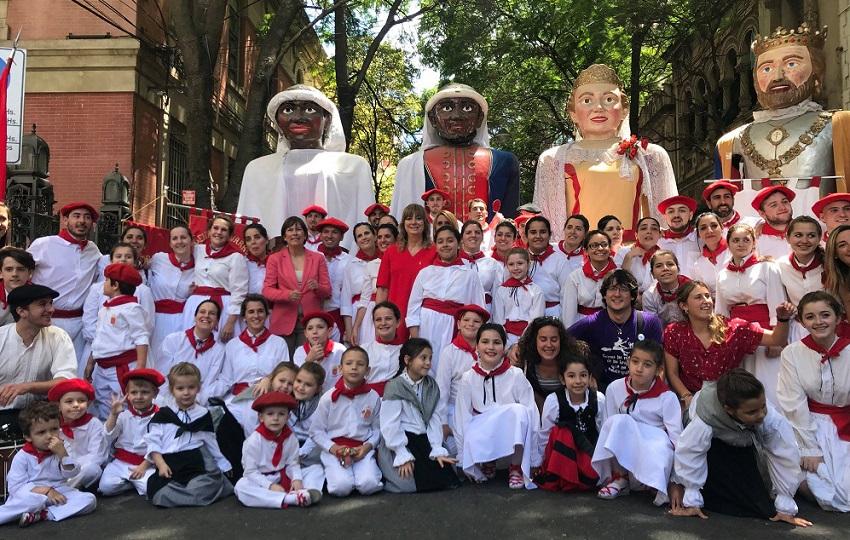 Uxue Barkos en el 10º Encuentro de Centros Navarros de Argentina