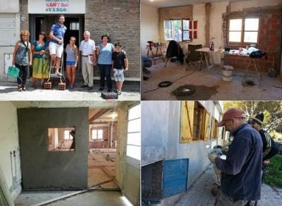 Photos of the work done at the Basque club in Viedma and Carmen de Patagones (photoEE)