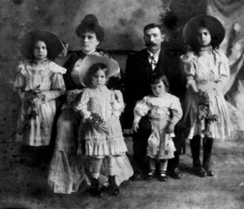 La familia Guinea López de Arana en México, en los tiempos más boyantes de La Escondida (foto Javier Castro)