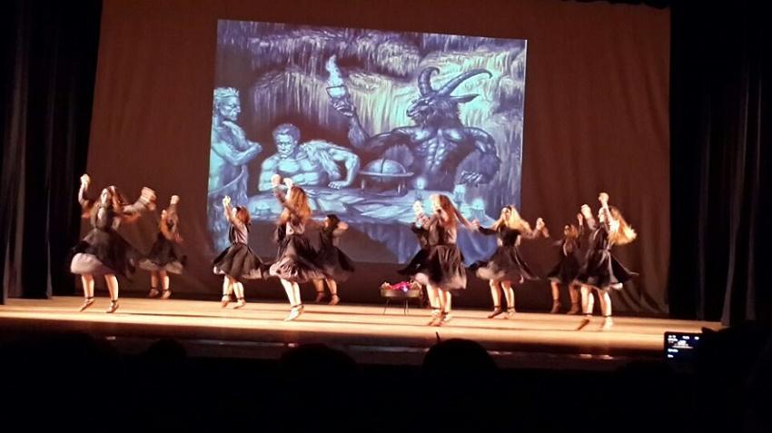 En 'Akelarre', se unieron también danzas y actuación