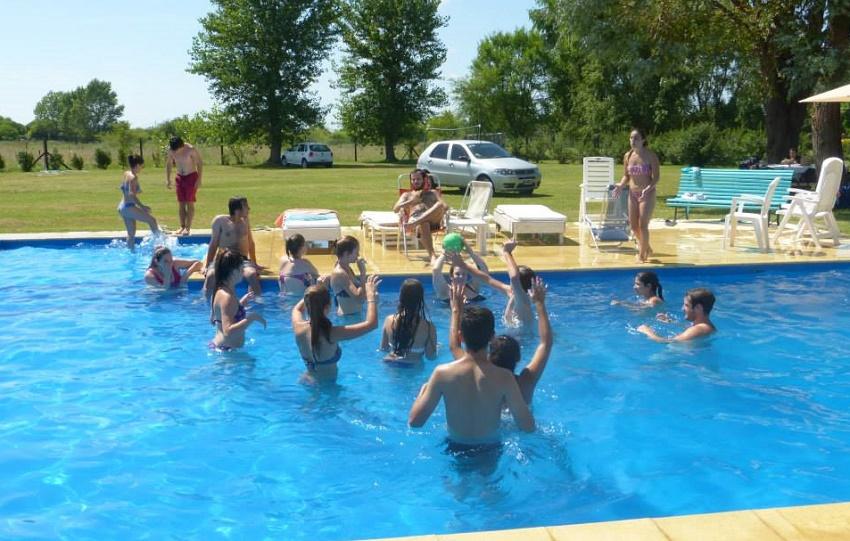 En la piscina, mejor imposible